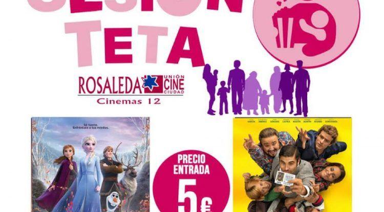 Películas para toda la familia con Sesión Teta en el CC Rosaleda (Málaga)