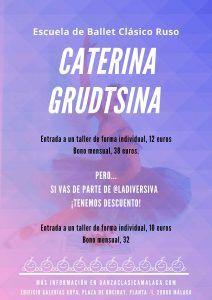Taller de baile todos los sábados en la escuela Caterina Grudtsina en Málaga