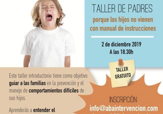 Taller gratis para padres sobre el comportamiento de los niños en Málaga