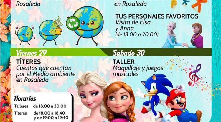 Títeres y talleres infantiles gratis en el CC Rosaleda de Málaga en noviembre