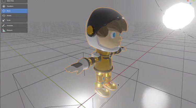 Curso de videojuegos para niños con modelado en arte 3D y 2D en La Térmica (Málaga)