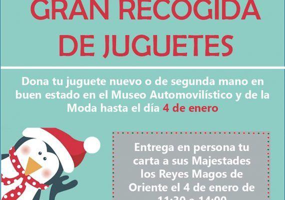 Gran recogida de juguetes en el Museo Automovilístico y de la Moda de Málaga