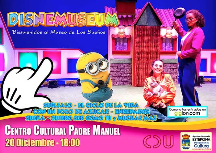 Teatro infantil 'Disnemuseum' en Estepona el viernes 20 de diciembre