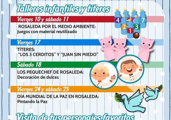 Actividades gratis para niños en el CC Rosaleda de Málaga en enero