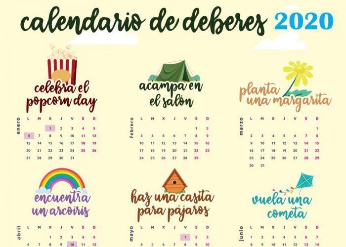 Descubre el divertido calendario de 'deberes' y las extraescolares de Aloha Málaga