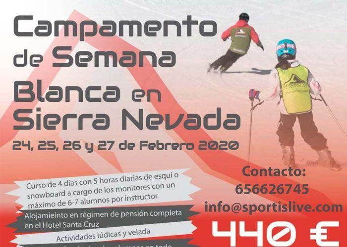 Campamento de Semana Blanca para niños con SportisLive en Sierra Nevada