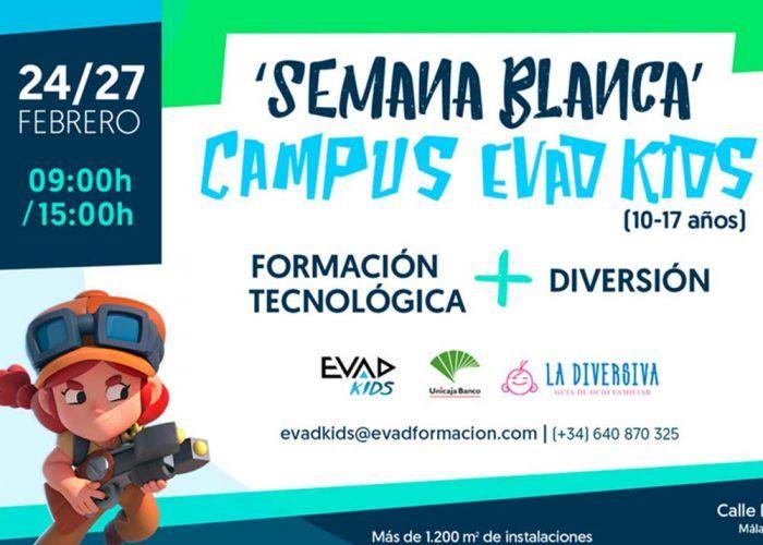 Campamento de Semana Blanca sobre videojuegos con EVAD KIDS en Málaga