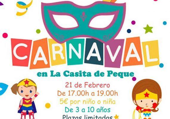 Fiesta de Carnaval para niños en La Casita de Peque