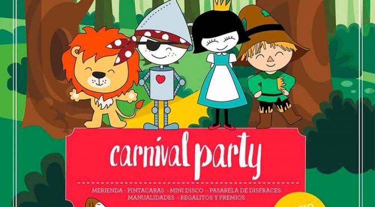 Fiesta de Carnaval para niños en Mandarina Garden Málaga
