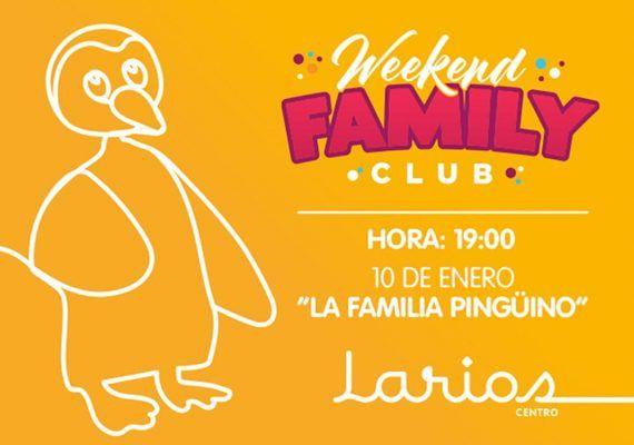 'La Familia Pingüino', obra de teatro infantil gratis en Larios Centro Málaga