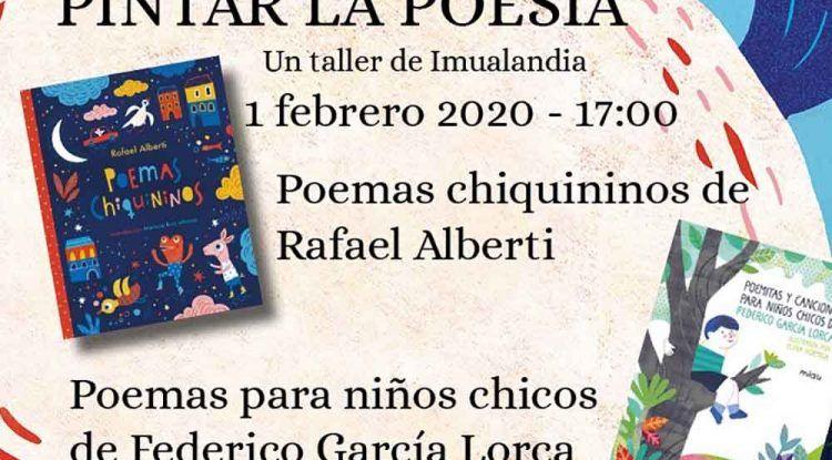 Taller gratis de poesía y pintura para niños en la Librería Luces de Málaga