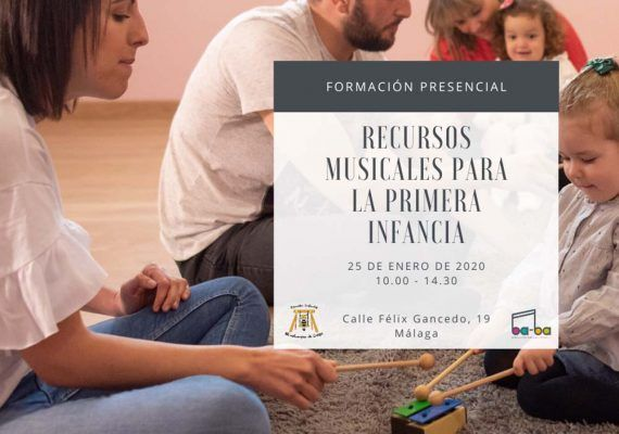 Taller de música infantil para educadores, madres y padres en Málaga
