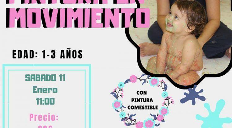 Taller de pintura en movimiento para bebés en Rincón de la Victoria