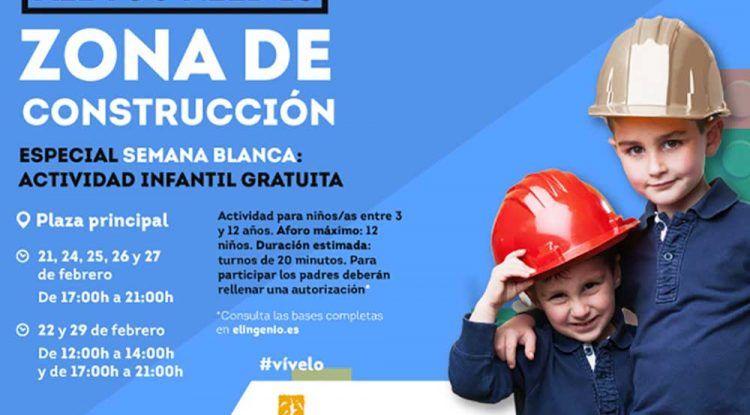 Actividad infantil gratis especial Semana Blanca en El Ingenio de Vélez-Málaga