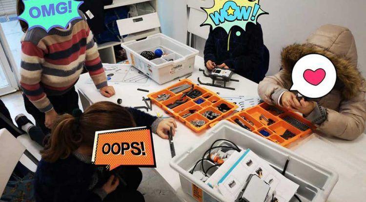 Campamento de robótica y arquitectura en Semana Blanca en El Cubo inquieto