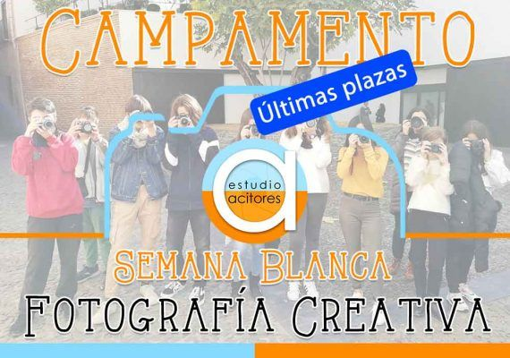 Campamento de fotografía creativa para jóvenes en Semana Blanca en Estudio Acitores