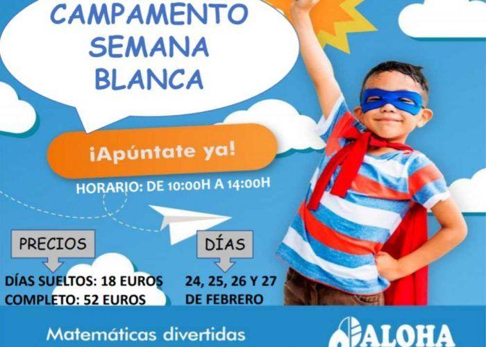 Campamento infantil de matemáticas divertidas esta Semana Blanca en Aloha Málaga