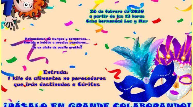 Carnaval solidario con actividades para niños en el barrio de San Andrés (Málaga)