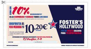 Descuento exclusivo para lectores de La Diversiva en Foster's Hollywood Pacífico (Málaga)