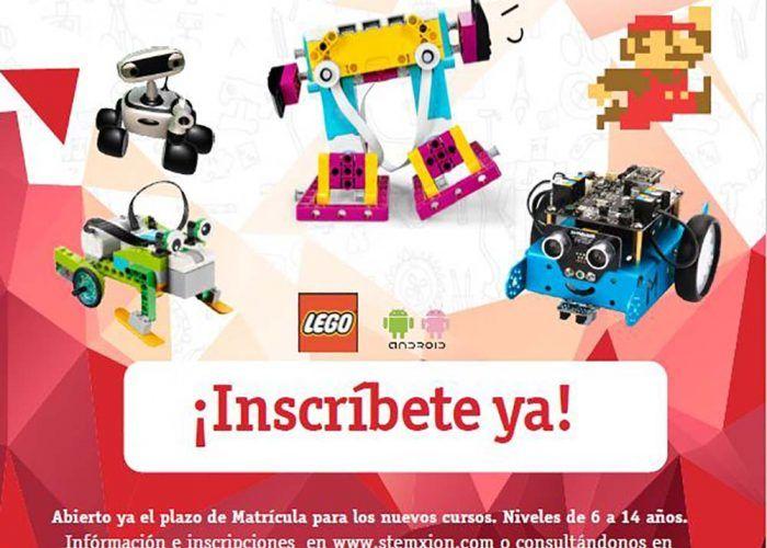 Cursos de tecnología y robótica para niños con Stemxion