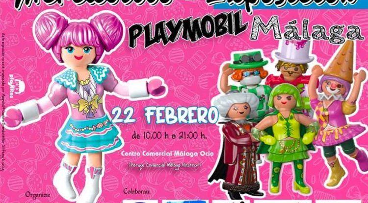 Exposición gratis y mercadillo de Playmobil para niños y toda la familia en Málaga Factory