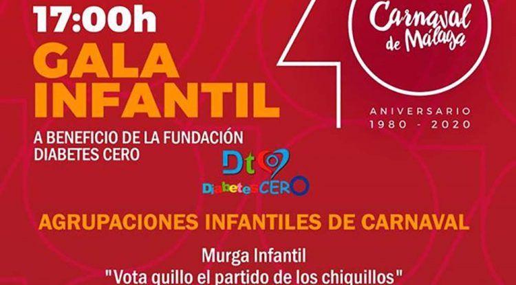 Gala infantil de Carnaval a favor de Diabetes Cero en el Teatro Cervantes de Málaga