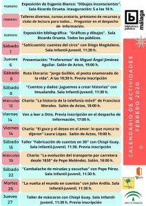 Actividades gratis para niños en febrero en la Biblioteca Provincial de Málaga