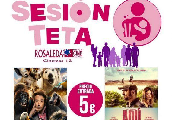 Sesión Teta: películas para disfrutar en familia en Multicines Rosaleda (Málaga)