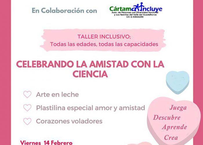 Taller inclusivo de ciencia especial San Valentín para niños en Cártama