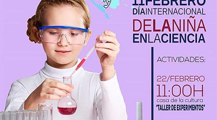 Taller gratis por el Día Internacional de la Niña en la Ciencia en Pizarra