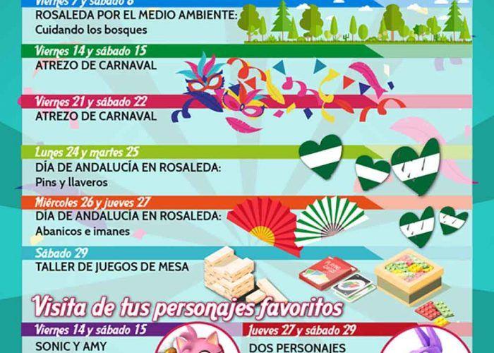 Talleres infantiles gratis de Carnaval y Andalucía en el CC Rosaleda de Málaga