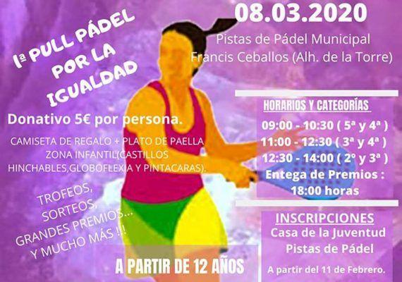 Fiesta deportiva con actividades para niños en Alhaurín de la Torre por la igualdad