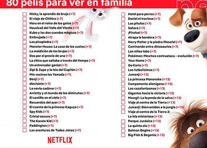 Películas para niños y toda la familia en Netflix