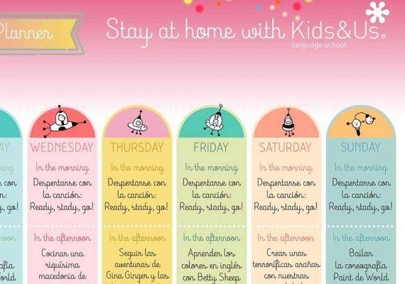Actividades en inglés para hacer en casa con niños de la mano de Kids&Us