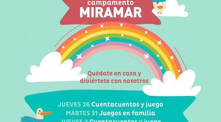 Campamento Miramar: ludoteca virtual gratis del CC Miramar para niños durante la cuarentena