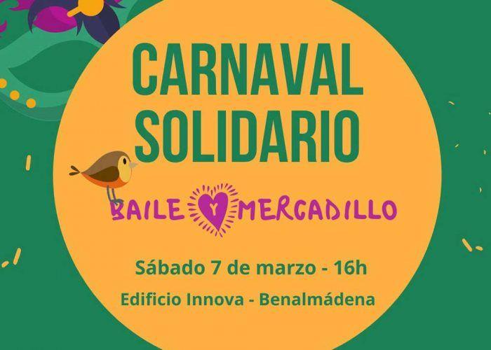 Carnaval y mercadillo solidario brasileño para niños y niñas en Benalmádena