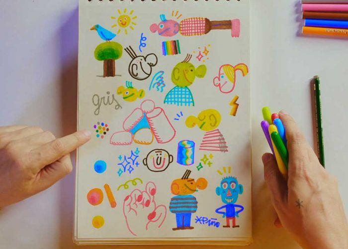 Cursos gratis para niños sobre sellos de estampación y creatividad en Domestika