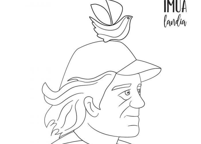 Dibujos para colorear sobre poesía con Imualandia en casa