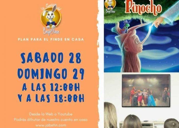 Teatro para niños 'Pinocho' online y gratis con Jabetín Teatro este fin de semana