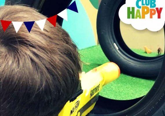 Nerf gymkana para niños en Club Happy Málaga