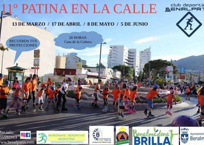 Patina en la calle con niños en el Arroyo de la Miel (Benalmádena)