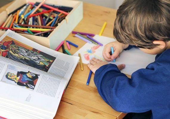 Actividades de arte gratis para niños en casa con el Museo Picasso Málaga