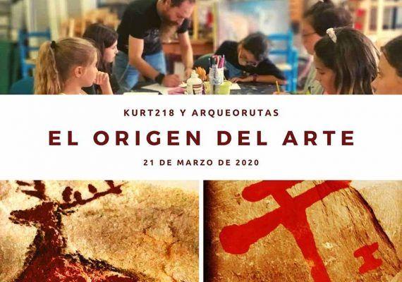 Taller de arte prehistórico para niños con ArqueoRutas y Kurt218 en Mollina (Málaga)