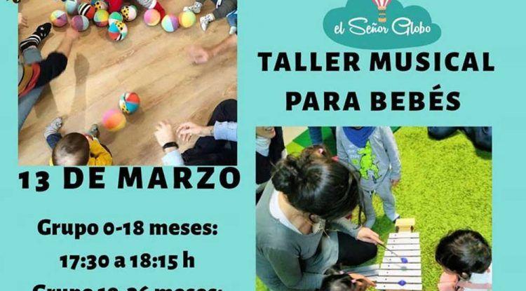Taller musical para bebés con EM3 Educación Musical en El Señor Globo