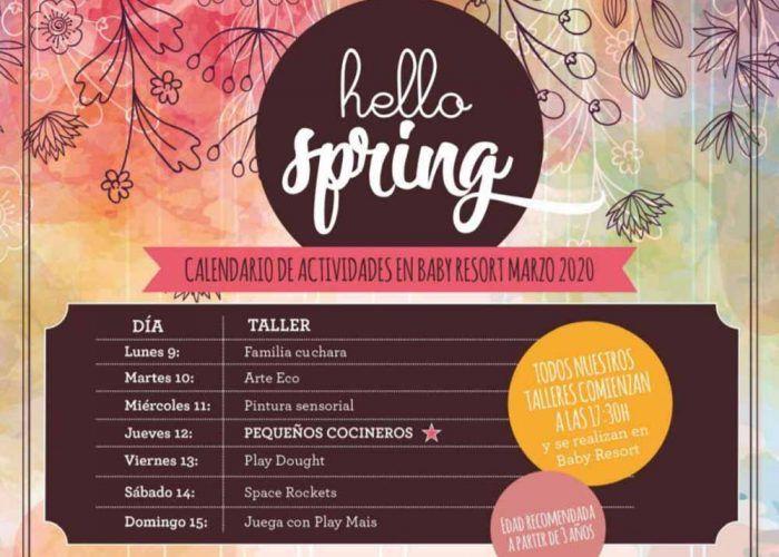 Talleres y juegos de primavera para niños en Mandarina Garden Málaga