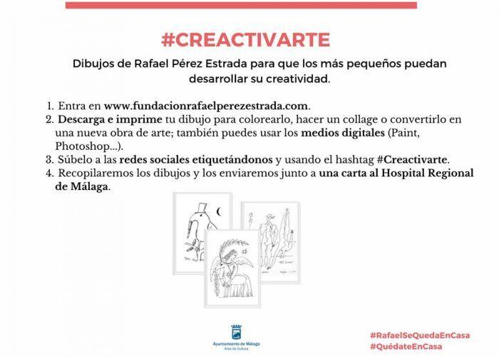 Actividad creativa para niños en casa con la Fundación Rafael Pérez Estrada