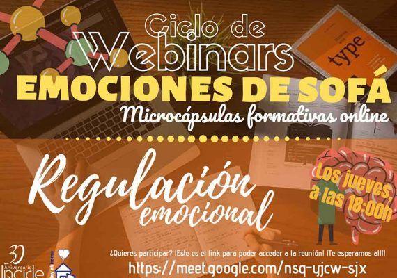 Clases de 'Regulación Emocional' en el Ciclo de Webinars con INCIDE
