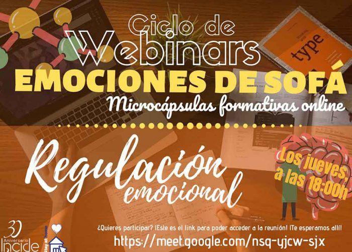 Clases de Regulación Emocional en el Ciclo de Webinars con INCIDE