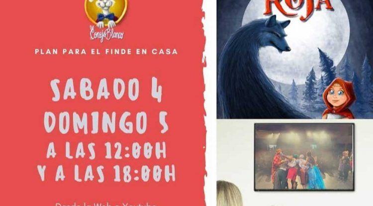 Teatro para niños 'Caperucita Roja' online y gratis con Jabetín Teatro este fin de semana