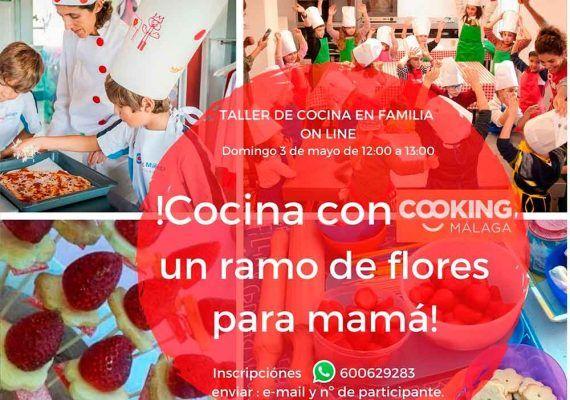 Taller de cocina en familia con Cooking Málaga por el Día de la Madre